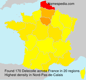 Surname Delecolle in France