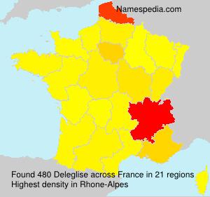 Surname Deleglise in France