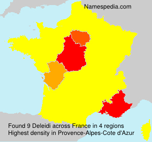 Familiennamen Deleidi - France