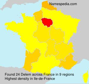 Surname Delem in France