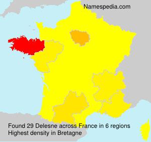 Surname Delesne in France