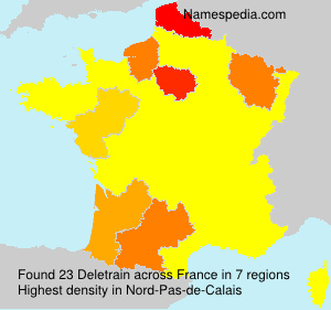 Surname Deletrain in France