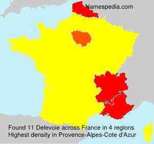 Surname Delevoie in France
