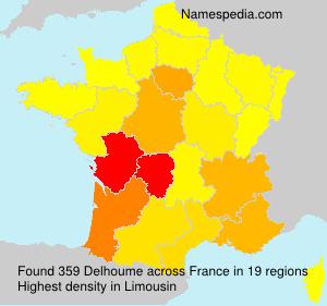 Surname Delhoume in France