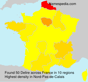 Surname Delire in France