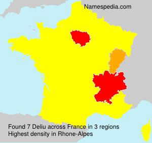 Surname Deliu in France