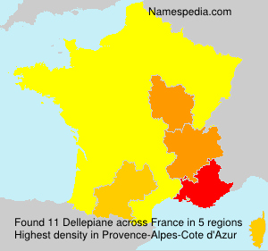Surname Dellepiane in France