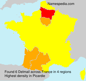 Surname Delmail in France