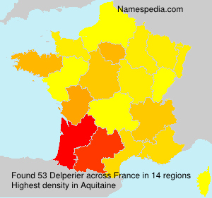 Surname Delperier in France