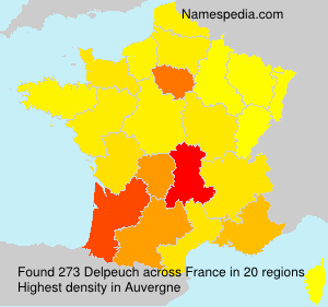 Surname Delpeuch in France