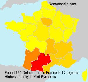 Surname Delpon in France