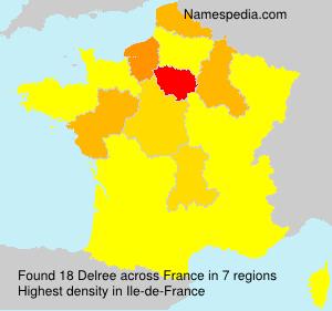 Surname Delree in France