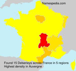 Surname Delserieys in France