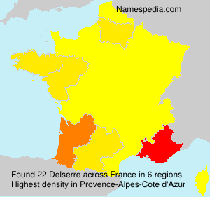 Surname Delserre in France