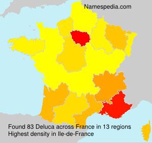 Surname Deluca in France