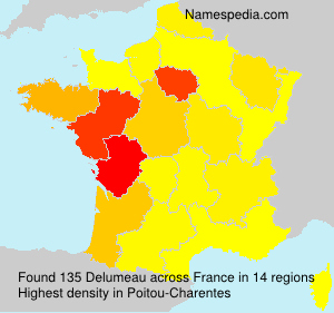 Surname Delumeau in France