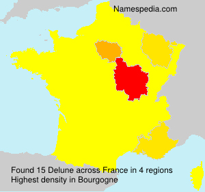 Surname Delune in France