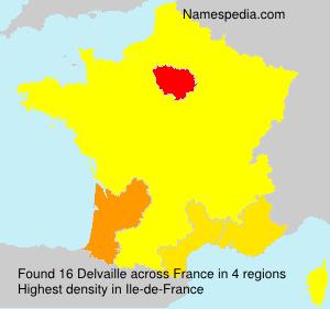 Surname Delvaille in France