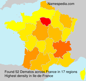 Surname Dematos in France