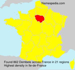 Surname Dembele in France