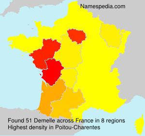 Surname Demelle in France