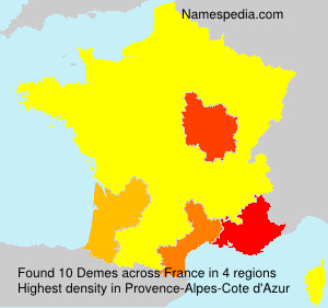 Surname Demes in France