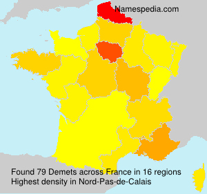 Surname Demets in France