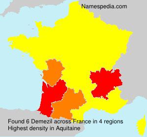 Familiennamen Demezil - France