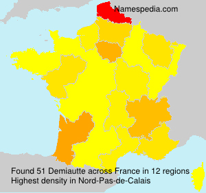 Surname Demiautte in France