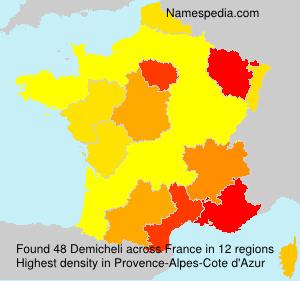 Surname Demicheli in France