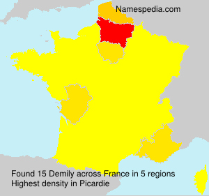 Surname Demily in France