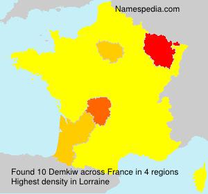 Familiennamen Demkiw - France