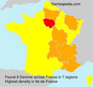 Surname Demme in France