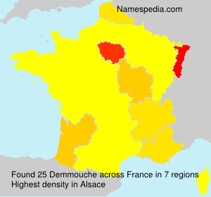 Surname Demmouche in France
