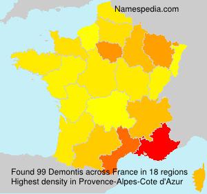Surname Demontis in France