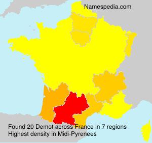 Surname Demot in France