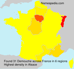 Surname Demouche in France