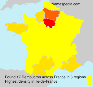 Surname Demoucron in France