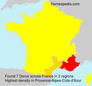 Familiennamen Denai - France