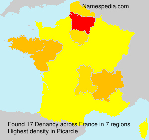 Surname Denancy in France