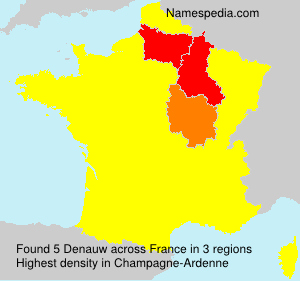 Surname Denauw in France