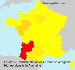 Surname Dendaletche in France