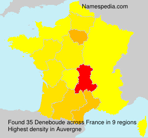 Familiennamen Deneboude - France