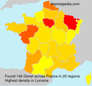Surname Denet in France