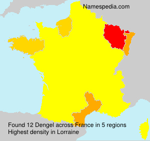 Surname Dengel in France