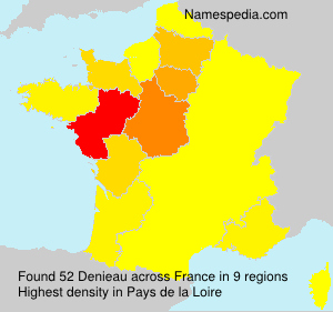 Surname Denieau in France