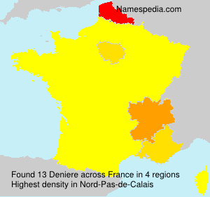 Surname Deniere in France