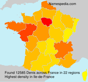 Surname Denis in France