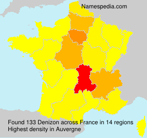 Surname Denizon in France