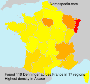 Surname Denninger in France